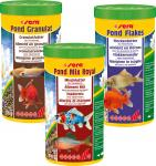 sera pond granulat + pond flakes + Pond Mix Royal - 3x 1000 ml