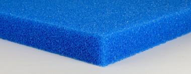 Friscer Filterschaumstoffplatte blau 5 cm Platte PPI 10 grob