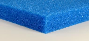 Friscer Filterschaumstoffplatte blau 5 cm Platte PPI 20 mittel