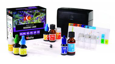 Red Sea Marine Care Test Kit  - NH3, NO2, NO3, pH & Alk Tests