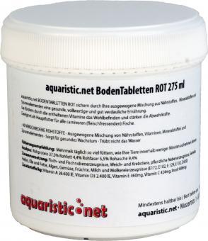 aquaristic.net BodenTabletten ROT 170 g - 275 ml Dose