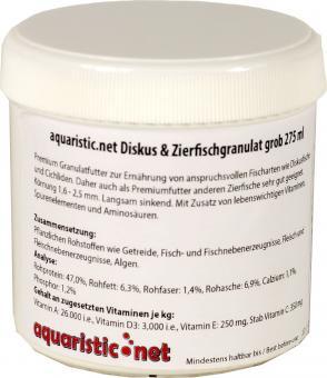 aquaristic.net Premium Diskus- und Zierfischgranulat grob 100 g - 275 ml Dose