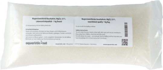 Magnesiumchlorid Hexahydrat, MgCl2, E511, Lebensmittelqualität 1 kg Beutel
