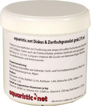 aquaristic.net Premium Discus & Tropical fish granules coarse 100 g - 275 ml Can