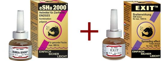 eSHa 2000 20 ml + eSHa Exit 20 ml Sparpack.