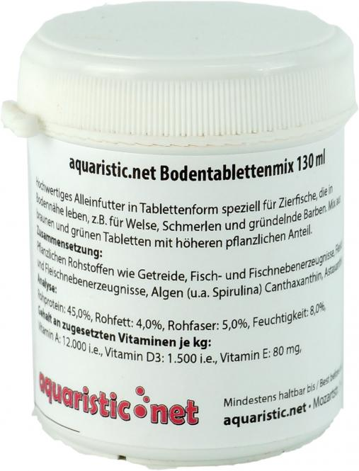 aquaristic.net BodenTabletten MIX  80 g - 130 ml Dose
