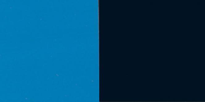 hobby folienr ckwand zuschnitt blau schwarz. Black Bedroom Furniture Sets. Home Design Ideas