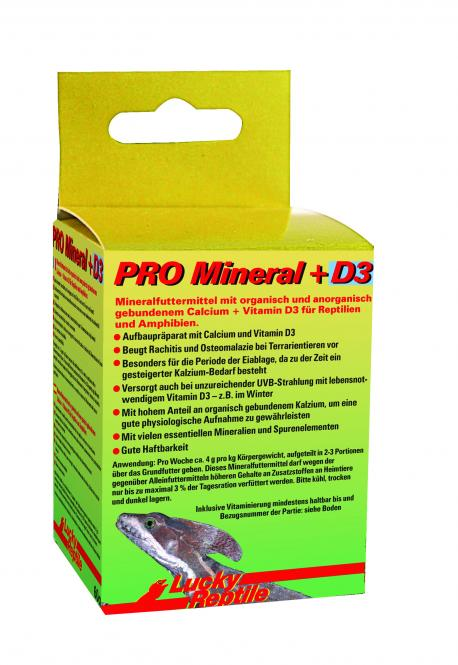 Lucky Reptile PRO Mineral + D3 - 60 g