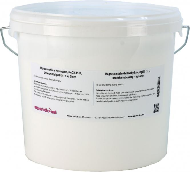 Magnesiumchloride Hexahydrate, MgCl2, E511, nourishment quality 4 kg Bucket