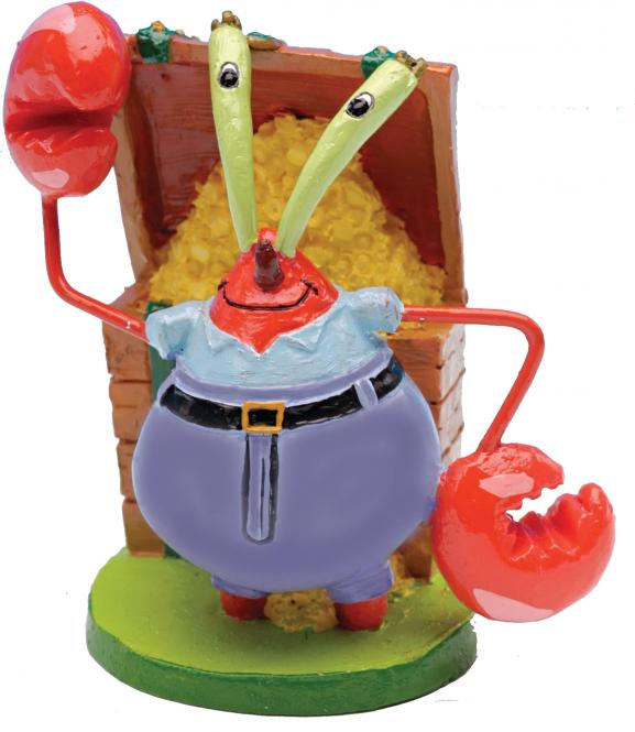 SpongeBob Aquariendeko Figur - Mr. Krabbs