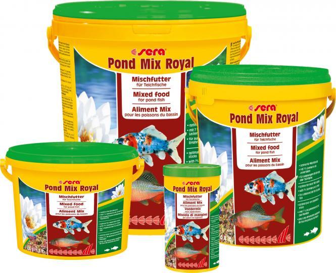 Sera pond mix royal for Was fressen teichfische