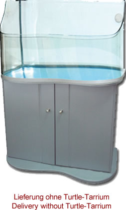 Lucky Reptile Turtle-Tarrium cabinet with door silver