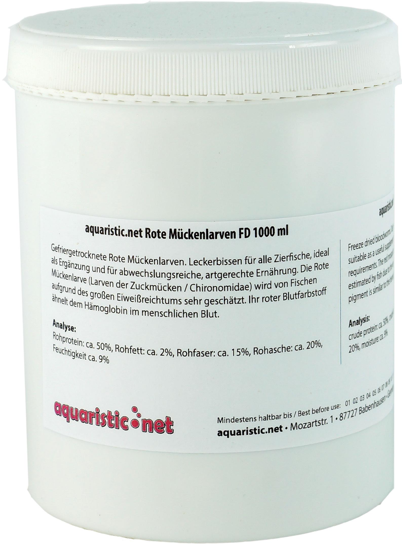 Rote Mückenlarven FD 1000 ml