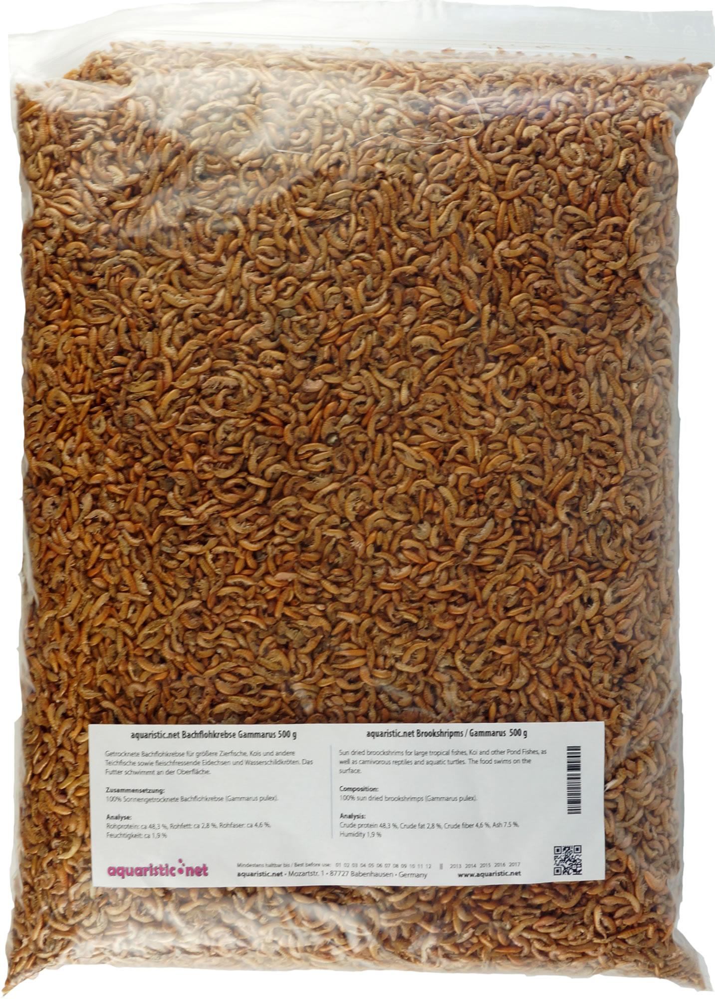 Bachflohkrebse / Gammarus getrocknet 500 g Beutel