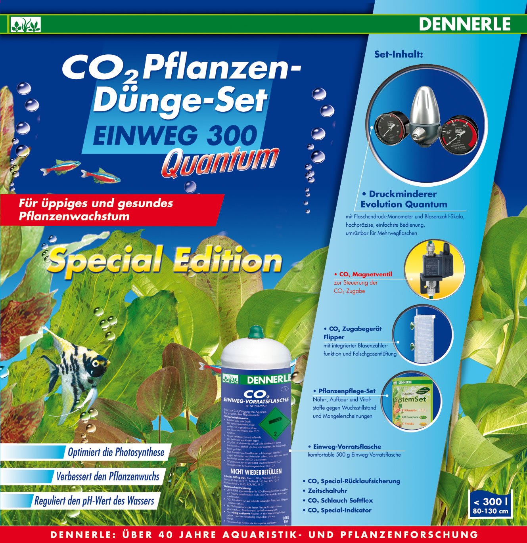 Dennerle CO2 Pflanzen-Dünge-Set Einweg 300 Quantum