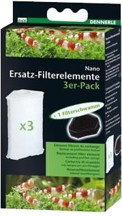 Dennerle Nano Ersatz-Filterelement (3 St.)