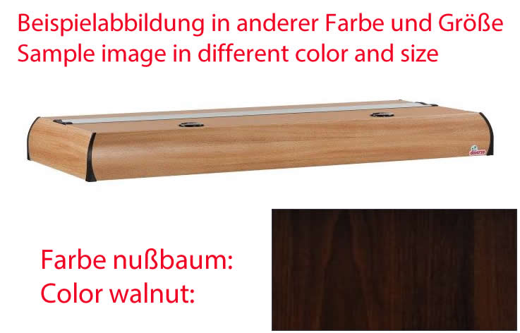 Diversa Platino T5 nußbaum 200x60 cm - 4x 80 W