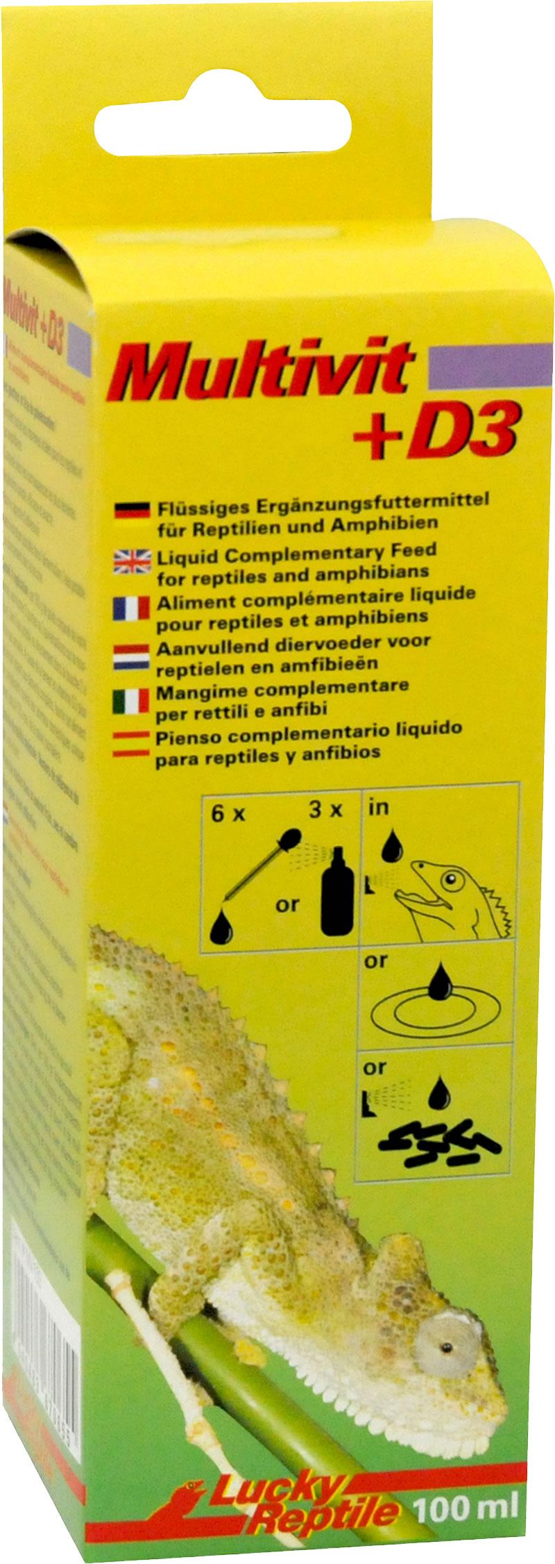 Lucky Reptile Multivit + D3 - 100 ml