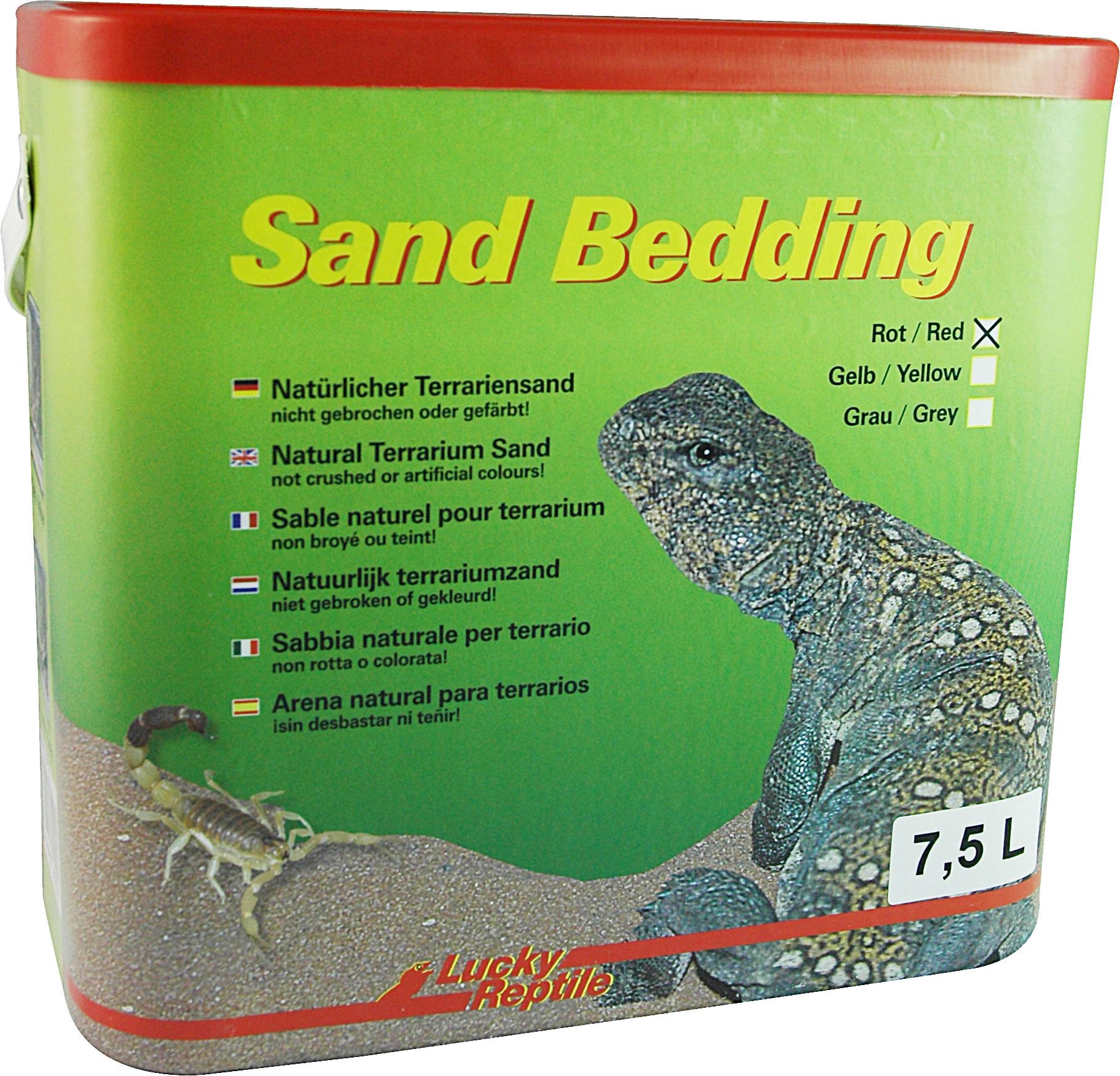 Lucky Reptile Sand Bedding Lehmsand rot - 7,5 l