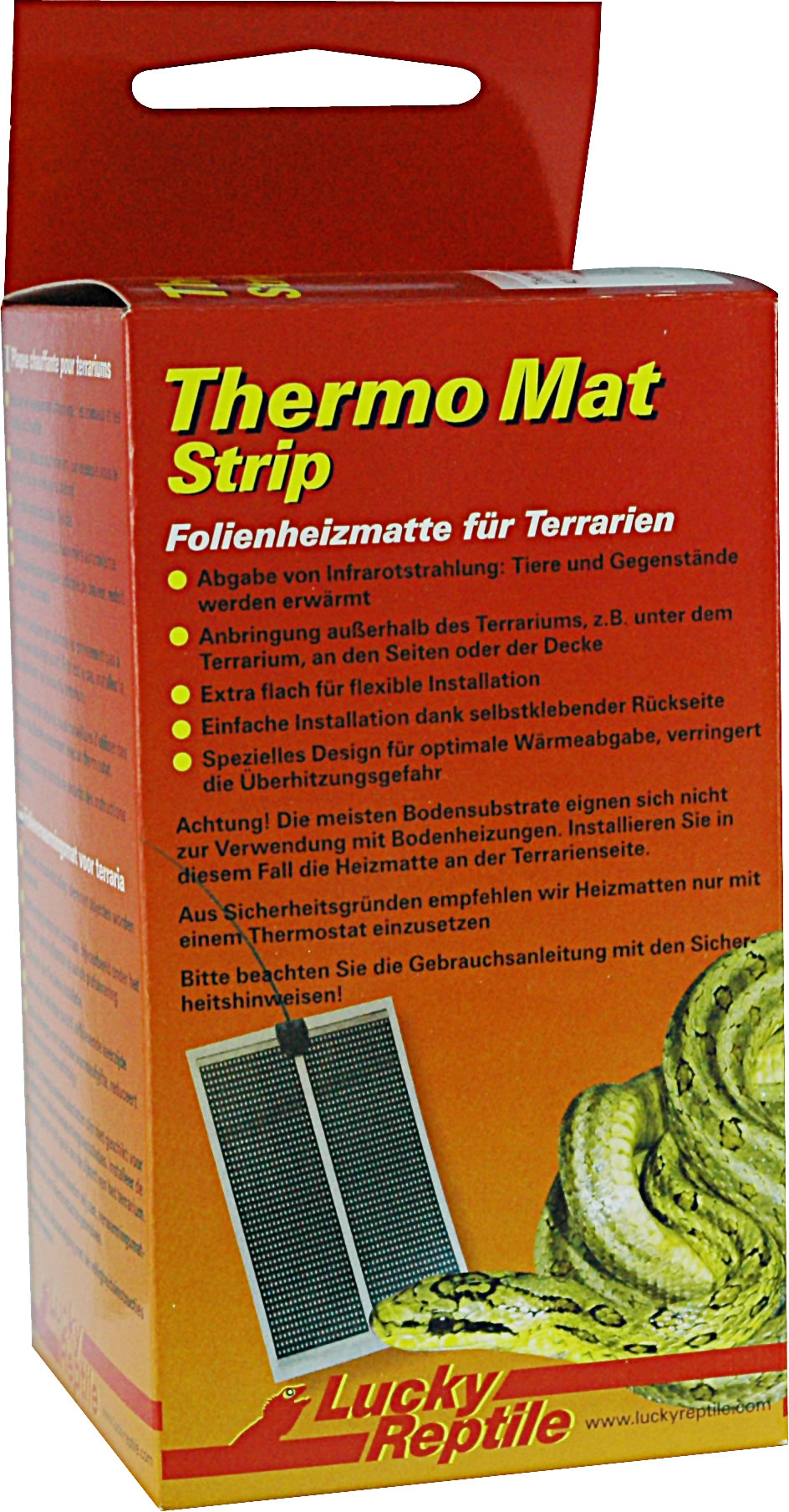 lucky reptile thermo mat strip. Black Bedroom Furniture Sets. Home Design Ideas