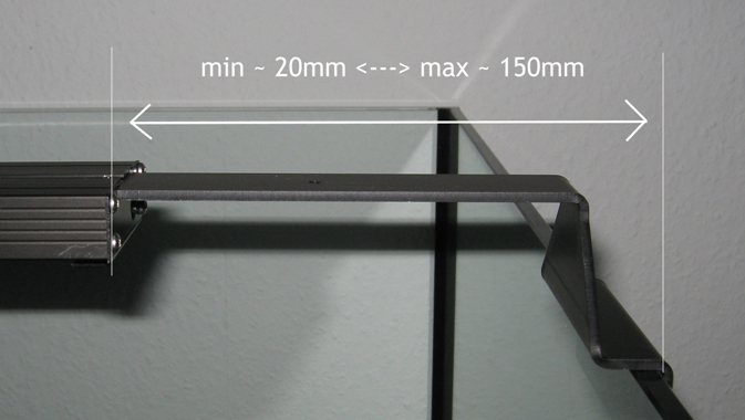 Giesemann Aquarienhalter PULZAR LED Modul - 2 Stück