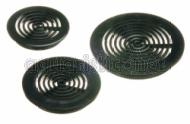 PVC Rundgitter schwarz 50 mm