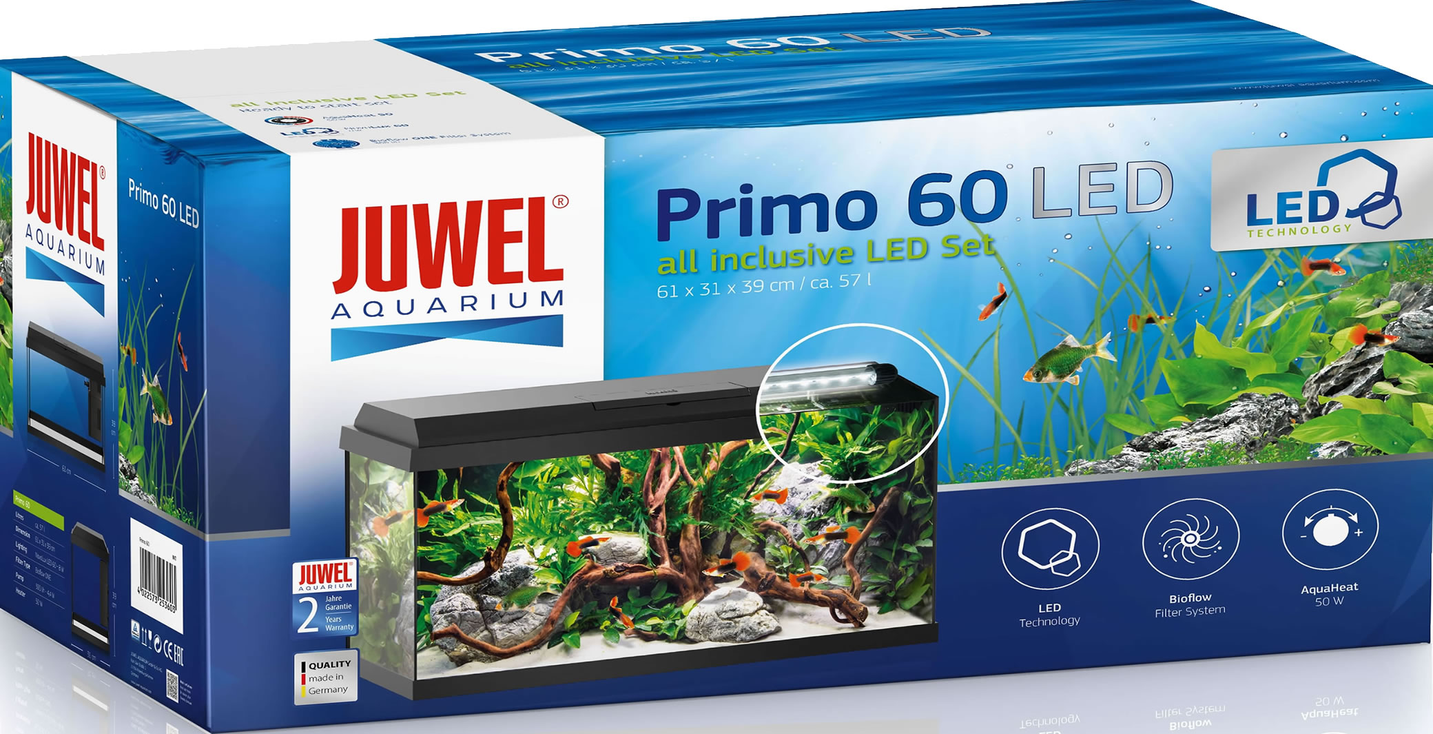 juwel primo 60 led aquarium set schwarz. Black Bedroom Furniture Sets. Home Design Ideas