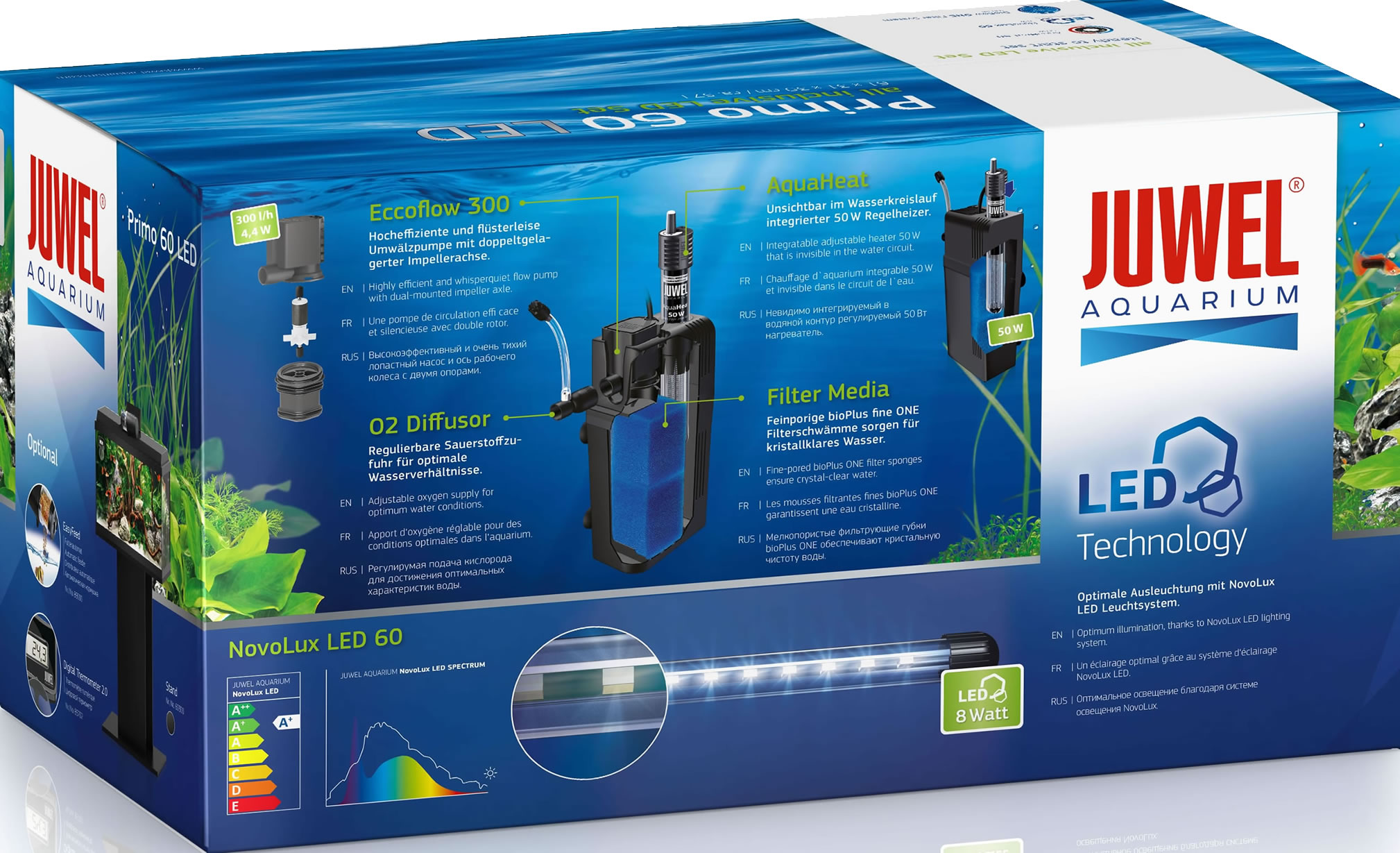 Aquaristic Net Juwel Primo 60 Led Aquarium Set Black