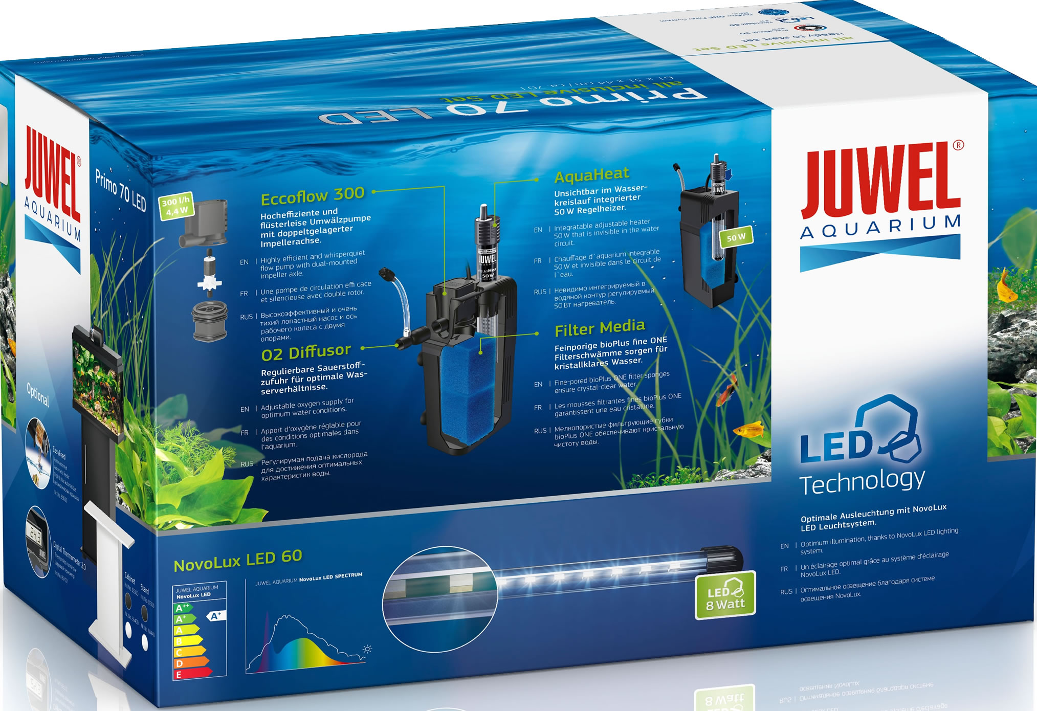 juwel primo 70 led aquarium set schwarz. Black Bedroom Furniture Sets. Home Design Ideas